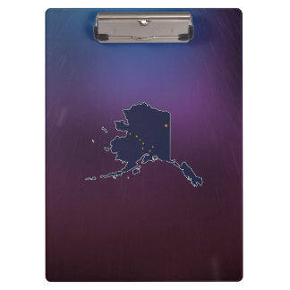 Cool Alaska Flag Map Clipboard