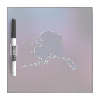 Cool Alaska Flag Map Dry-Erase Boards