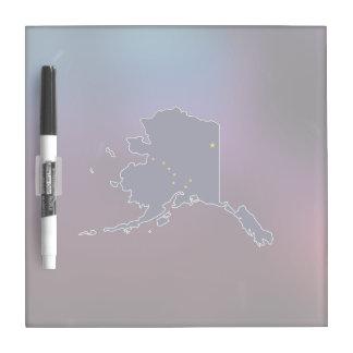 Cool Alaska Flag Map Dry Erase Boards