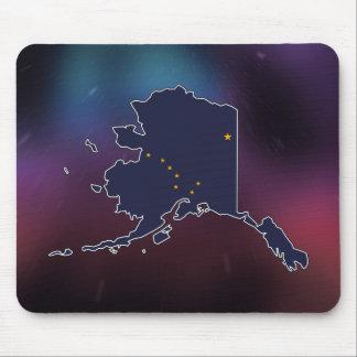Cool Alaska Flag Map Mouse Pad