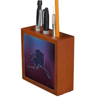 Cool Alaska Flag Map Pencil Holder