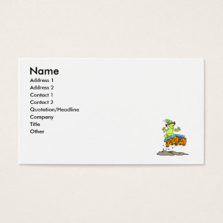 Cool alien on rover business card
