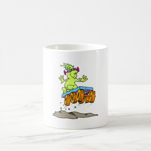 Cool alien on rover coffee mug