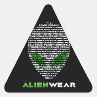 Cool Alien Wear Triangle Sticker