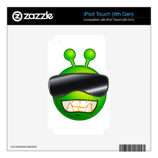 Cool Alien with glasses iPod Touch 4G Decal