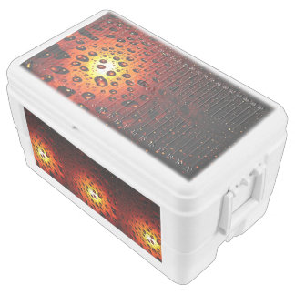 Cool Amber Water Droplets Chest Cooler