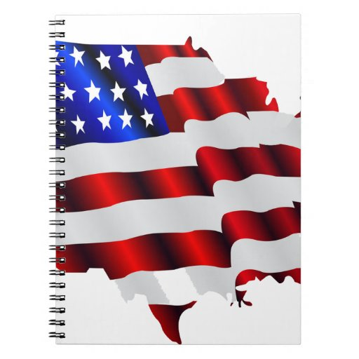 Cool America, US/USA, SAD flag, Sochi games Spiral Notebooks