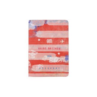 cool american citizen travel passport holder