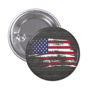Cool American flag design 1 Inch Round Button