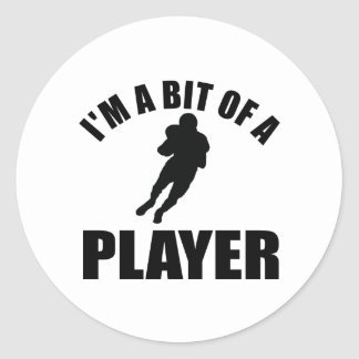 Cool American football design Classic Round Sticker