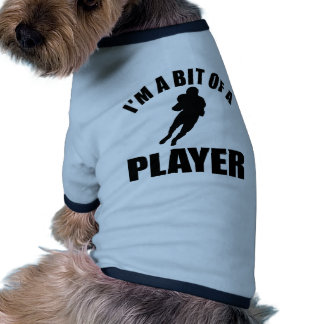 I Love Football Player Pet Clothing, I Love Football ...
