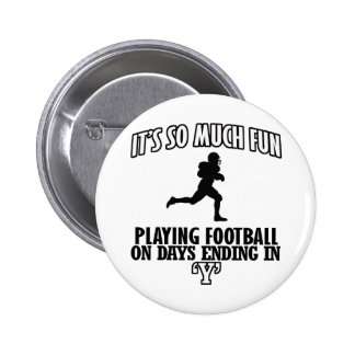 cool American football DESIGNS Pinback Button