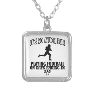 cool American football DESIGNS Square Pendant Necklace