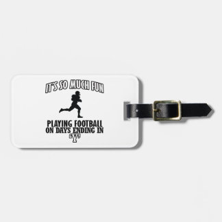 cool American football DESIGNS Tag For Luggage