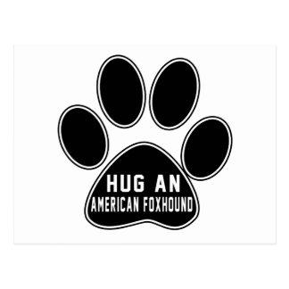 Cool American foxhound Designs Postcard
