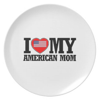 cool American mom designs Melamine Plate