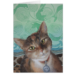 Cool American Short Hair Cat by Ezartesa Card
