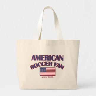 cool American soccer DESIGNS Large Tote Bag