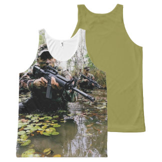 COOL AMERICAN SOLDIERS DESIGNS All-Over PRINT TANK TOP