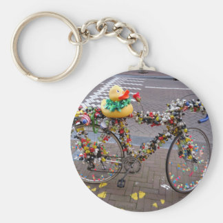 Cool Amsterdam Bicycle and Yellow Duck Keychain