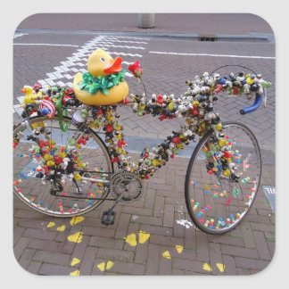 Cool Amsterdam Bicycle with the Yellow Duck Sticker