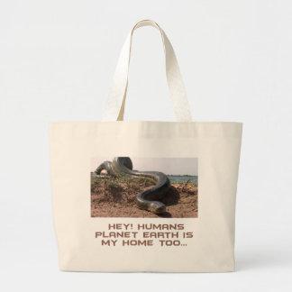 cool anaconda designs large tote bag