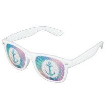 Cool Anchor Funny Gift Retro Sunglasses