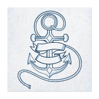 Cool anchor illustration canvas print