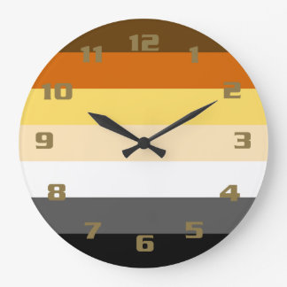 Cool and Classic Bear Pride Flag Large Clock
