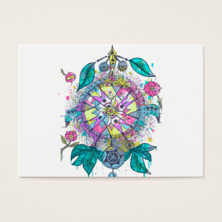 Cool and colorful dreamcatcher business card