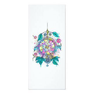 Cool and colorful dreamcatcher card