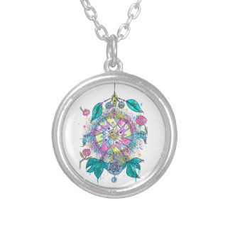 Cool and colorful dreamcatcher necklace