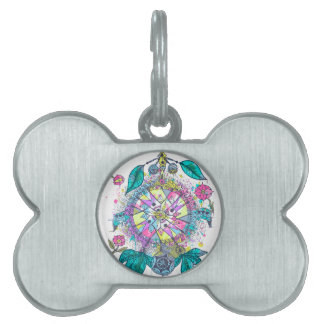 Cool and colorful dreamcatcher pet ID tags