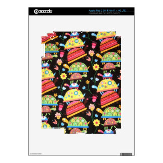 cool and colorful pattern with turttles iPad 3 decals