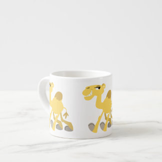 Cool and Cute Cartoon Camel Espresso Mug
