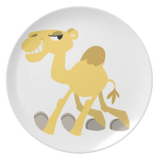 Cool and Cute Cartoon Camel Plate