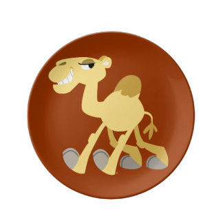 Cool and Cute Cartoon Camel Porcelain Plate