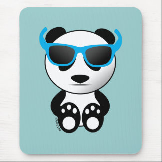 Cool and cute panda bear with sunglasses mouse pad