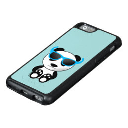 Cool and cute panda bear with sunglasses OtterBox iPhone 6/6s case