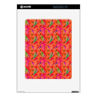 Cool and Elegant Abstract Pink Orange Fuchsia Decals For The iPad