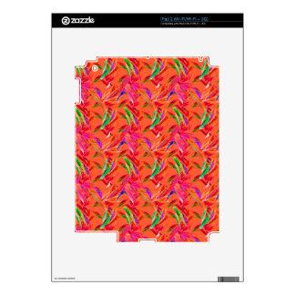 Cool and Elegant Abstract Pink Orange Fuchsia iPad 2 Skin