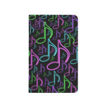 Cool and Fun Bright Neon Music Note Collage Journal