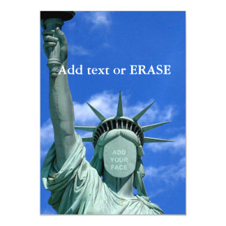 Cool and fun customizable Statue of Liberty… Magnetic Card