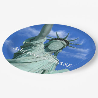 Cool and fun customizable Statue of Liberty… Paper Plate
