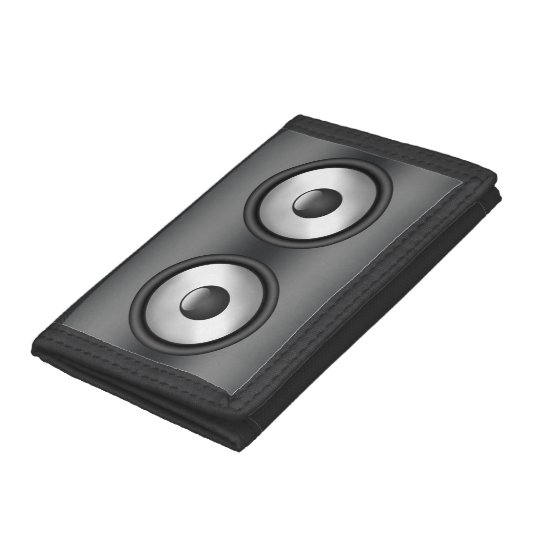 Cool Speaker cool and fun music speaker design tri-fold wallet | zazzle
