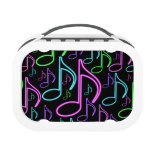 Cool and Fun Neon Music Note Collage Yubo Lunch Box