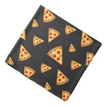 Cool and fun pizza slices pattern bandana