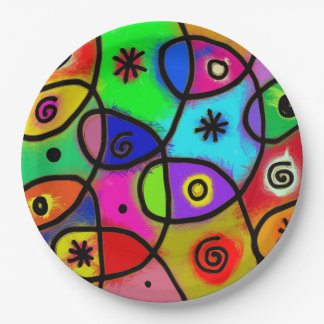 Cool and funky Paper Plates  sc 1 st  Zazzle & Cool Funky Plates | Zazzle