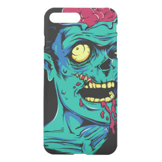Cool and Funny Zombie Horror Face - Transparent iPhone 8 Plus/7 Plus Case