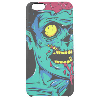 Cool and Funny Zombie Horror Face - Transparent Uncommon Clearly™ Deflector iPhone 6 Plus Case